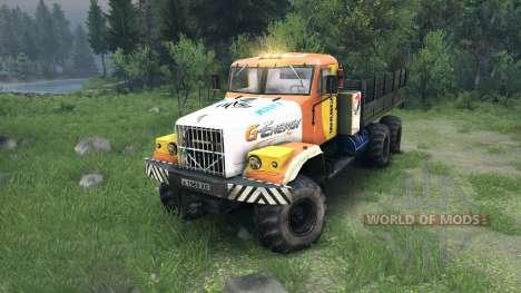 KrAZ-255 in einer neuen Farbe für Spin Tires
