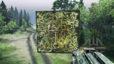 Holographique carte du Forestier pour Spin Tires