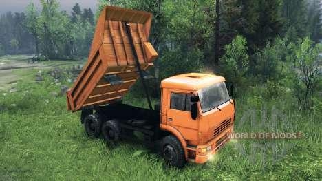 De nouveaux corps pour KAMAZ-6520 pour Spin Tires