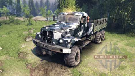 KrAZ-255 camo v3 pour Spin Tires