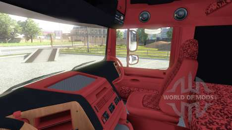 Innenraum für DAF-Rot & Orange für Euro Truck Simulator 2