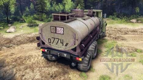 KrAZ-260 et KrAZ-63221 camion (SKVO SIÈCLES) pour Spin Tires