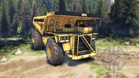 Mining truck für Spin Tires