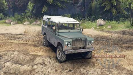 Land Rover Defender Cyan pour Spin Tires