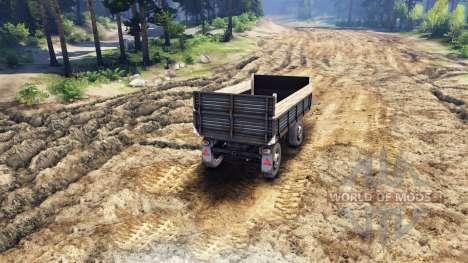 Der Flachbett-trailer v2 für ZIL-133 G1 und ZIL- für Spin Tires