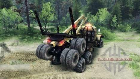 KrAZ-255 alt für Spin Tires