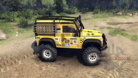 Land Rover Defender 90 für Spin Tires