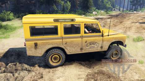 Land Rover Defender Camel Trophy für Spin Tires