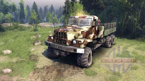 KrAZ-255 camo v2 für Spin Tires