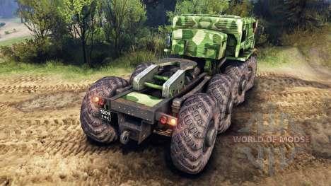 MAZ-535 camo v1 pour Spin Tires