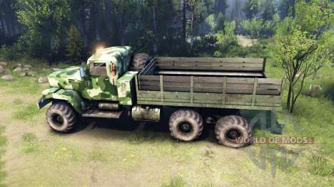 KrAZ-255 camo v1 pour Spin Tires