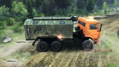 KamAZ-6520 soulevées pour Spin Tires