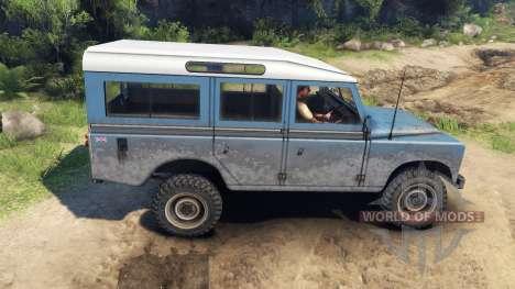 Land Rover Defender Blue für Spin Tires
