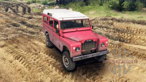 Land Rover Defender Red für Spin Tires