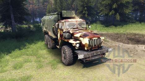Ural-4320 camo v2 pour Spin Tires