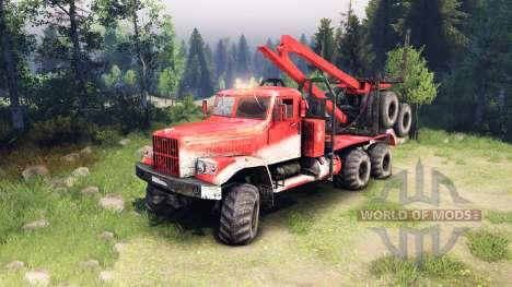KrAZ-255 dans la couleur rouge pour Spin Tires