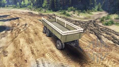 Remorque côté v1 pour le ZIL-133 G1 et ZIL-133 G pour Spin Tires