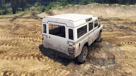 Land Rover Defender White für Spin Tires
