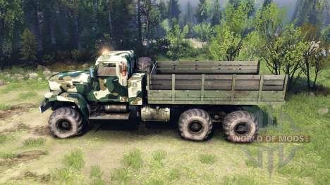 KrAZ-255 camo v4 für Spin Tires
