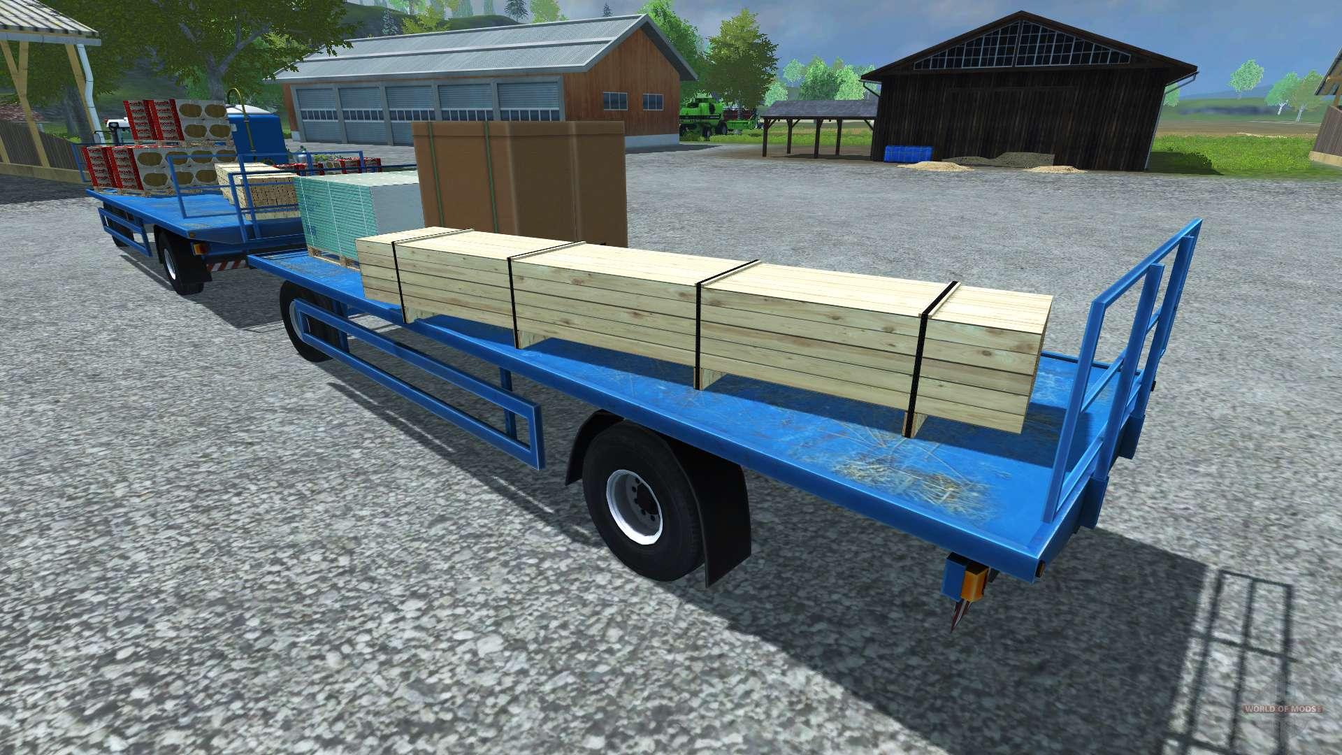 remorque pour palettes l zard pour farming simulator 2013. Black Bedroom Furniture Sets. Home Design Ideas
