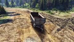Der Flachbett-trailer v2 für ZIL-133 G1 und ZIL-