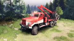 KrAZ-255 dans la couleur rouge
