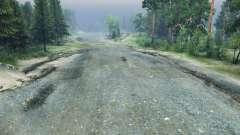 La pierre concassée de la route