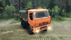 KamAZ-6520 angehoben