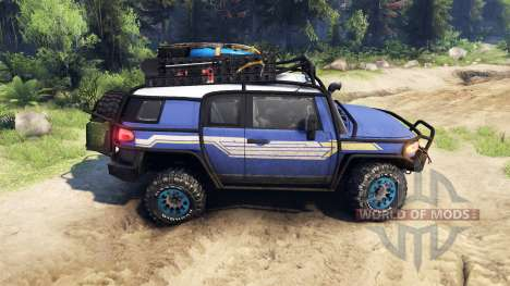 Toyota FJ Cruiser синий pour Spin Tires