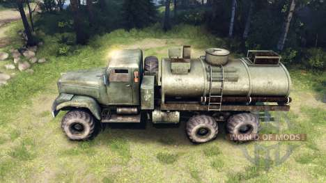 Grünen tank KrAZ-255 v2.0 für Spin Tires