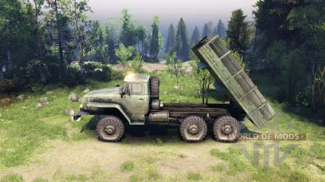 Camion plateau corps pour Spin Tires