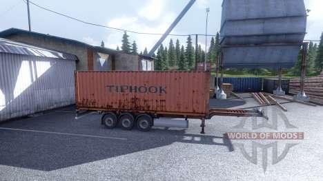 Nouvelle couleur de fret conteneurisé vol.1 pour Euro Truck Simulator 2