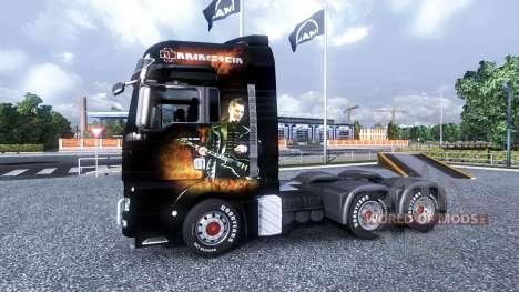 Couleur-Rammstein - sur le camion MAN pour Euro Truck Simulator 2