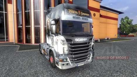 Couleur-Pirates des Caraïbes - sur tracteur Scan pour Euro Truck Simulator 2