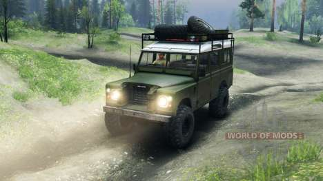 Land Rover Defender Series III v2.2 Olive pour Spin Tires