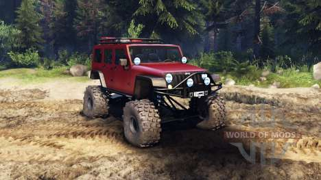 Jeep Wrangler Unlimited SID Red pour Spin Tires