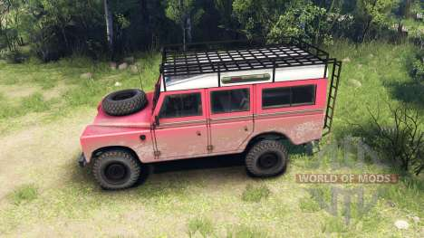 Land Rover Defender Series III v2.2 Red pour Spin Tires