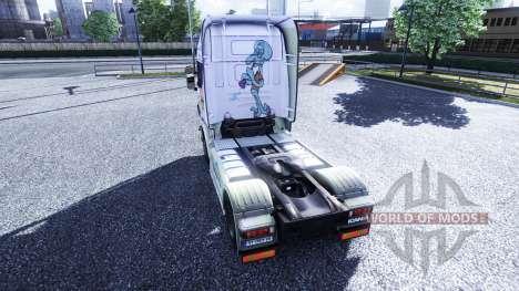 Couleur-Bob l'éponge - camion Scania pour Euro Truck Simulator 2