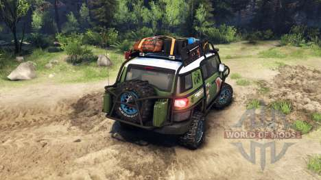 Toyota FJ Cruiser vert pour Spin Tires