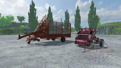 Ballen Presse und Ballen Abholung für Farming Simulator 2013