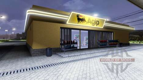 Station essence, Agip pour Euro Truck Simulator 2