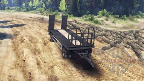 Remorque-camion de remorquage HOMME 19414 pour Spin Tires