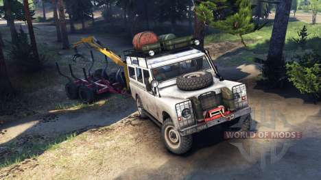 Land Rover Defender Series III v2.2 White pour Spin Tires