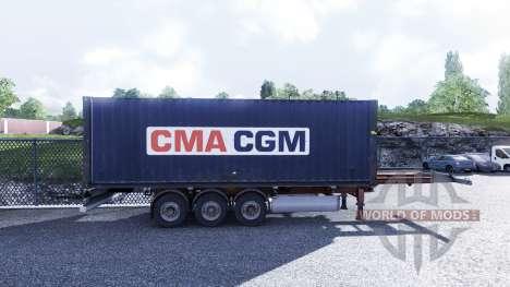 Nouvelle couleur de fret conteneurisé vol.3 pour Euro Truck Simulator 2