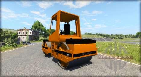Asphalt Walze Caterpillar für BeamNG Drive