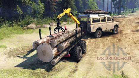 Land Rover Defender Series III v2.2 Sand pour Spin Tires
