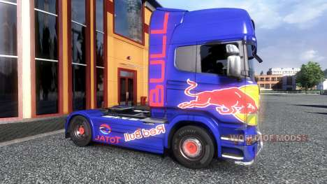Couleur-Red Bull - camion Scania pour Euro Truck Simulator 2