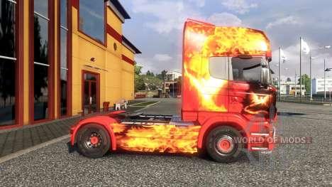 Couleur-Phoenix - sur tracteur Scania pour Euro Truck Simulator 2