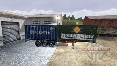 Nouvelle couleur de fret conteneurisé vol.2 pour Euro Truck Simulator 2