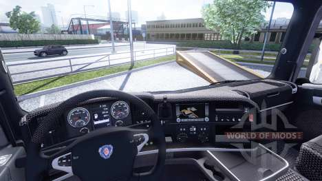De l'intérieur pour Scania-Cuir- pour Euro Truck Simulator 2